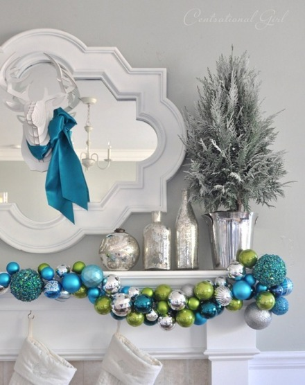 christmas diy - ornament garland