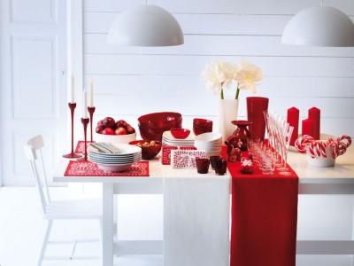Classic Red Buffet Setup