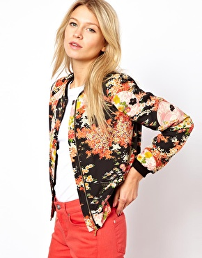 May top 5 - floral bomber