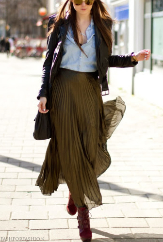 Fall Fashion - chambray and maxi