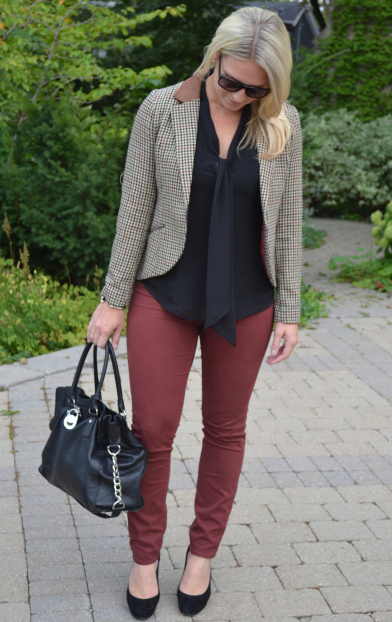 One of my favourite go to fall looks - a classic tweed blazer